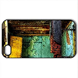 abandoned apartment ruins hdr - Case Cover for iPhone 4 and 4s (Watercolor style, Black)