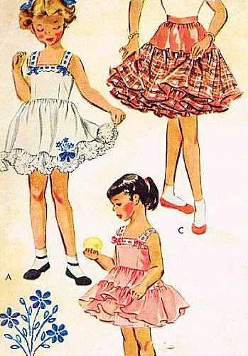 McCall's 1684 Girls' Petticoat and Slip for Bouffant Dresses Sewing Pattern Size 6 (Breast 24) Sewing Pattern, Vintage 1956 ()