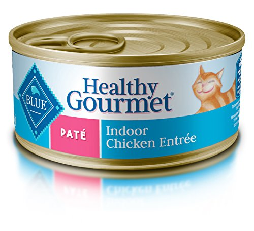 Blue Buffalo Healthy Gourmet Natural Adult Pate Wet Cat Food, Indoor Chicken 5.5-oz cans (Pack of 24) (The Best Wet Cat Food For Indoor Cats)