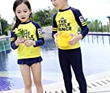 Kids Boy Letter Print Long Sleeve Rash Guard