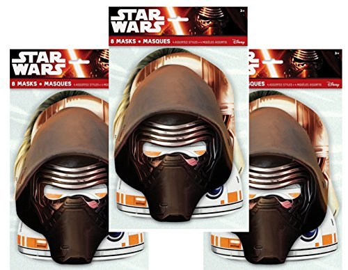 Star Wars Party Masks, 8ct (Three Pack)