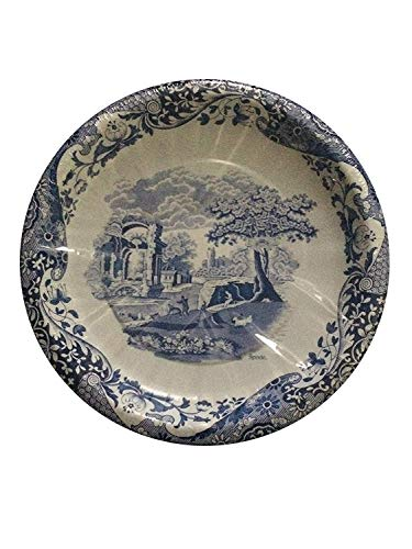 Spode Blue Italian Dinner Plates 16 Count Coated Paper ()