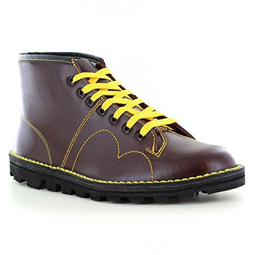 Roamer Men's Boys Original Monkey Boots Leather 4 UK Burgundy