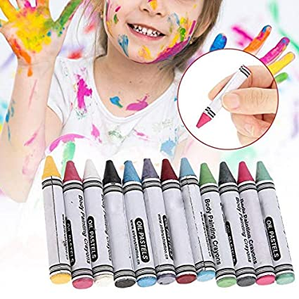 6 Colors Face Painting Crayon Pencils Splicing Structure Face Paint Crayon Body Painting Pen Stick For Children Party Makeup Office & School Supplies Painting Supplies