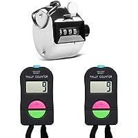 AFUNTA 2 piezas manual electrónico agregar/restar contador y 1 pieza manual mecánico, para golf, correr, natación, campo…