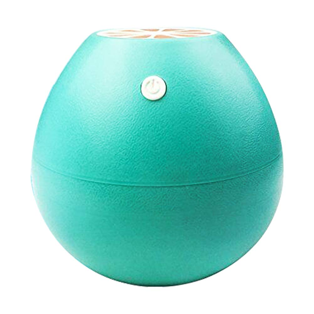 iCooLive 400ml Ultrasonic Cool Mist Humidifier Grapefruit Design Travel Mini Humidifier, USB Powered Personal Portable Humidifiers Diffuser with AUTO Shut-Off for Home Office Bedroom Best Gift