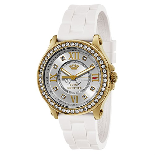 Juicy Couture Women's White Gold Silicone Strap Watch - 1
