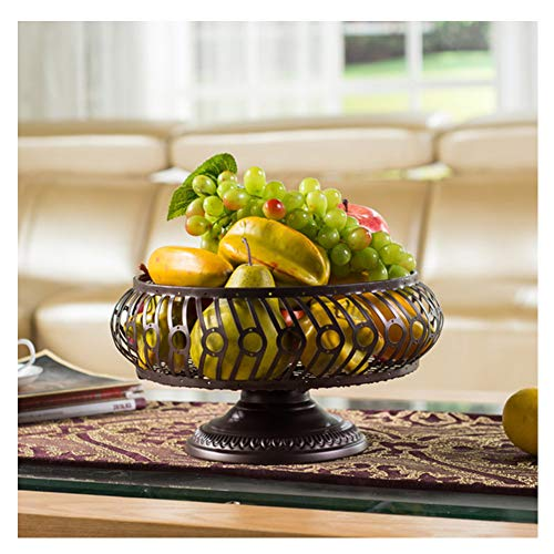 KEOA Countertop Fruit Basket Bowl Storage, Creative Cake Bowl Stand Display Tray for Bread Candy Snacks Bread and Other Household Items,B - Basket Assorted Fruit Small Seasonal