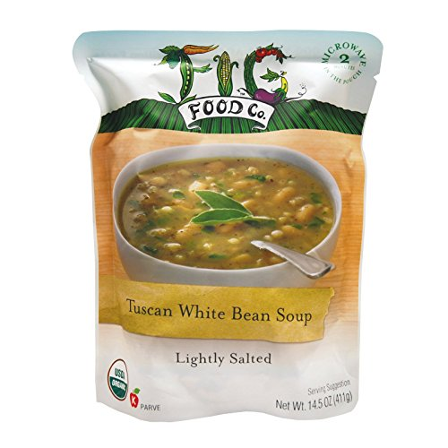 - Fig Food Organic Tuscan White Bean Soup - Lightly Salted - Case of 6 - 14.5 oz