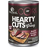Wellness Core® Hearty Cuts Natural Wet Grain Free Canned Dog Food, Beef & Venison, 12.5-Ounce Can (Pack of 12)