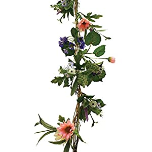 Hanken Colorful Artificial Spring Wildflower Garland for Home Decor, Displaying and Designing 102