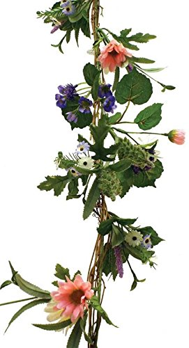 Colorful Artificial Spring Wildflower Garland for Home Decor, Displaying and Designing (Spring Garland)
