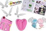 PolyClay Fairies Modeling Clay Crafting Accessories Kit For Kids 10 PCS DIY Themed Crafting Projects Simple Step-By-Step Create Arts Figures