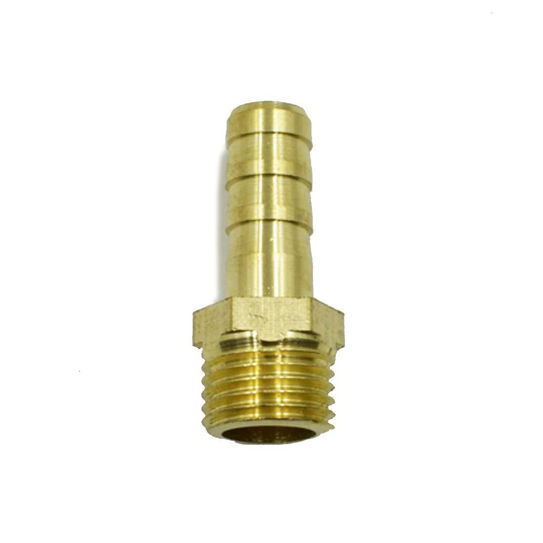 3//8 Male NPT x 3//8 Inch Hose Barb Brass Adaptor Fitting #59