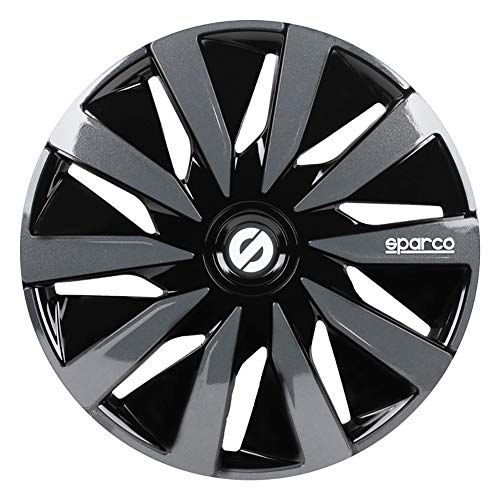 Sparco SPC1591BKGR Wheel Covers Lazio 15-inch Black/Grey