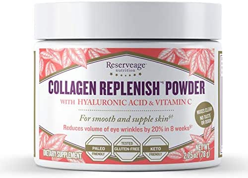 Reserveage, Collagen Replenish Powder, Skin and Nail Supplement, Supports Collagen and Elastin Production, Paleo, Keto, 2.75 oz (30 servings)