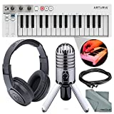 Arturia KeyStep 32-Note Slimkey Velocity and Aftertouch Controller and Sequencer & Deluxe Bundle w/ Samson Meteor Mic + SR350 Headphones + More