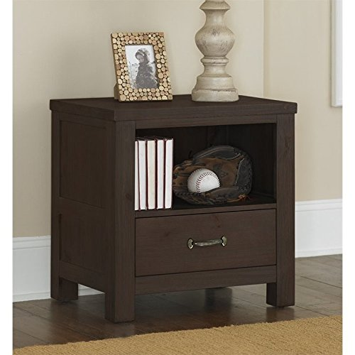 NE Kids Highlands Nightstand in Espresso by NE Kids