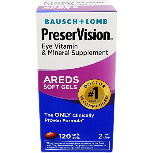 Bausch & Lomb Preservision Areds 120 Soft Gels (Pack of 4) by PreserVision