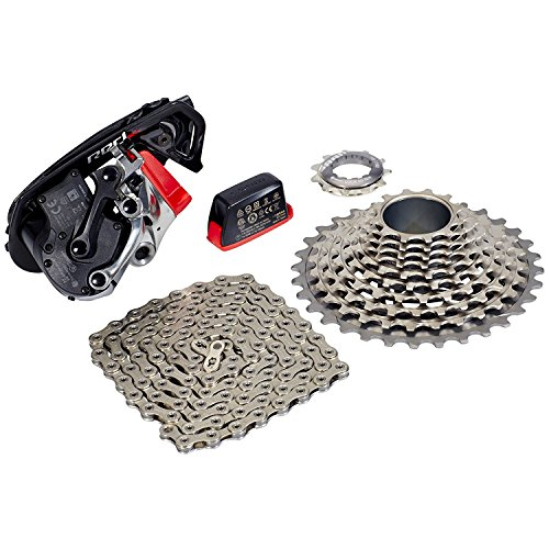 SRAM Red eTap WiFli Upgrade Kit, Includes Medium Cage Rear Derailleur, 11-32 Red 11 Speed Cassette and XG-1190 Red 22 Chain ()