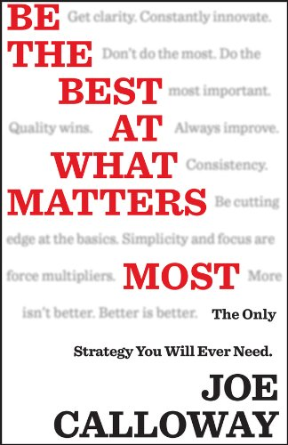 Be the Best at What Matters Most: The Only Strategy You will Ever Need (Best Customer Service Ever Received)