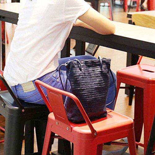 Pelle Borsa Cobalto Blu Animale Stampa Donna rimovibili A BMC con Borsetta Spalla Simil Aqaw1