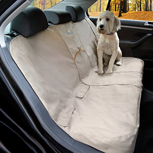 Kurgo Dog Seat Cover | Car Bench Seat Covers for Pets | Dog Back Seat Cover Protector | Water Resistant for Dogs | Contains Seat Anchors | Scratch Proof | Wander Bench | 55