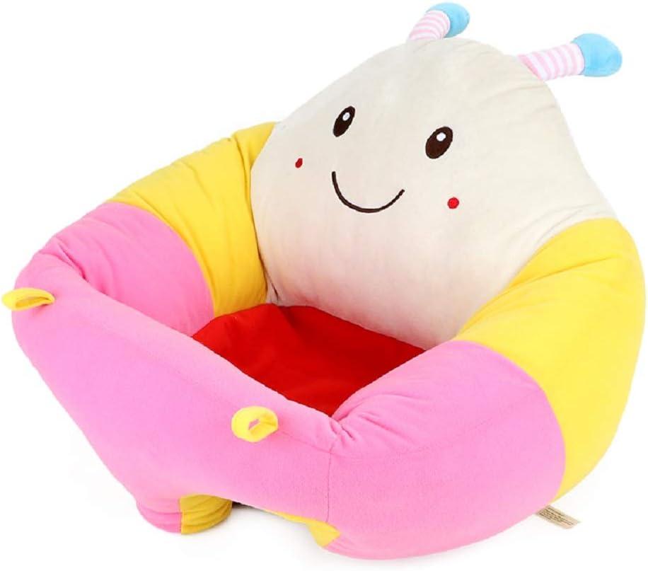 Greetuny Asiento de apoyo para beb/é Suave Dibujos animados Redondos Sof/á de beb/é para Aprender a Sentarse Lindo Almohada de Asientode Felpa Abeja