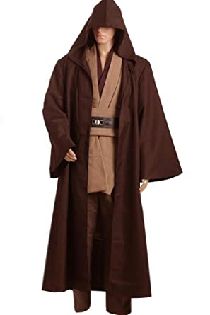 cosplaysky star wars jedi costume halloween outfit brown version x small