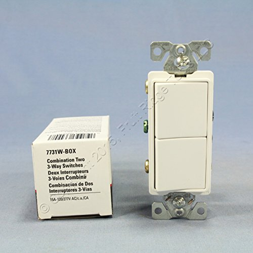 Cooper Wiring Devices 7731W-BOX SW Deco Comb 3Way/3Way 15A 120/277V WH