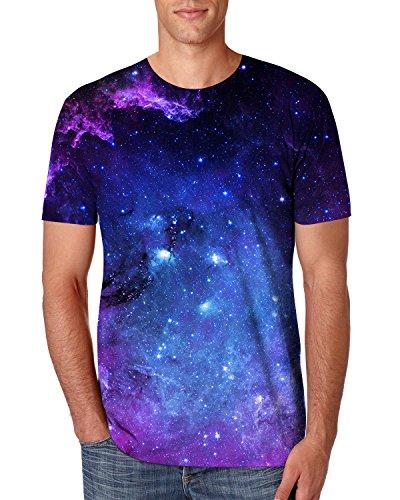 NEWISTAR Mens 3D Print Galaxy Short Sleeve T-Shirt Tees XL
