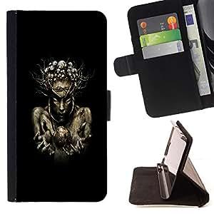 Jordan Colourful Shop - Nature Wood Sorcerer For HTC DESIRE 816 - < Leather Case Absorci????n cubierta de la caja de alto impacto > -