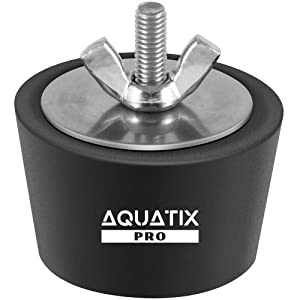 "Aquatix Pro Pool Winterizing Plug Premium 1.5"" to 2"" Swimming Pool Winter Expansion Plugs with SS Screw, Stainless Steel Bolts, Heavy Duty Rubber, Protect Your Equipment Today!"