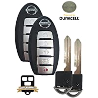 REMOTE STORE PAIR BUNDLE - 2 NEW OEM 5-Button 2017 2018 Nissan Rogue Keyless Entry Remotes w/REMOTE STORE Uncut Key Inserts