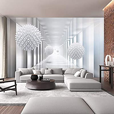 SUMGAR Custom 3D Wallpaper Living Room Large Space White Wall Murals Dining  Room Peel and Stick Penels Self Adhesive Non Woven Home Decor ...