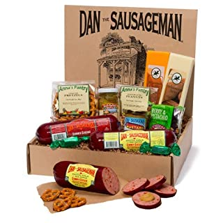 Dan the Sausageman's Sounder Gourmet Gift Box -Featuring Smoked Summer Sausage and Wisconsin Cheeses