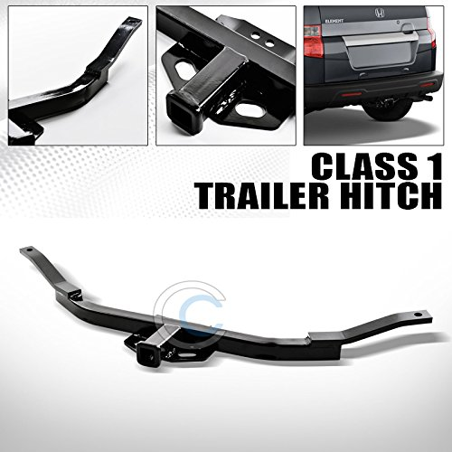 HS Power Black Finished Class 1 Trailer Hitch Receiver Rear Bumper Tow Kit 1.25