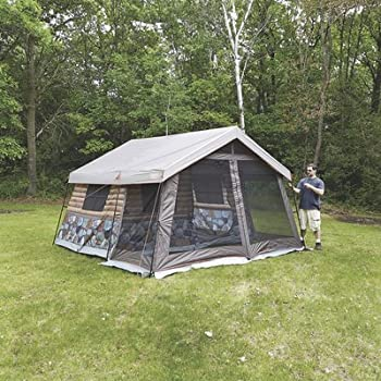 Amazon Com Timber Ridge 8 Man Log Cabin Tent Sports