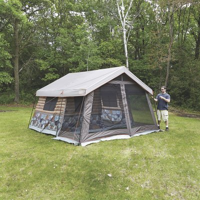 - Timber Ridge 8-Man Log Cabin Tent