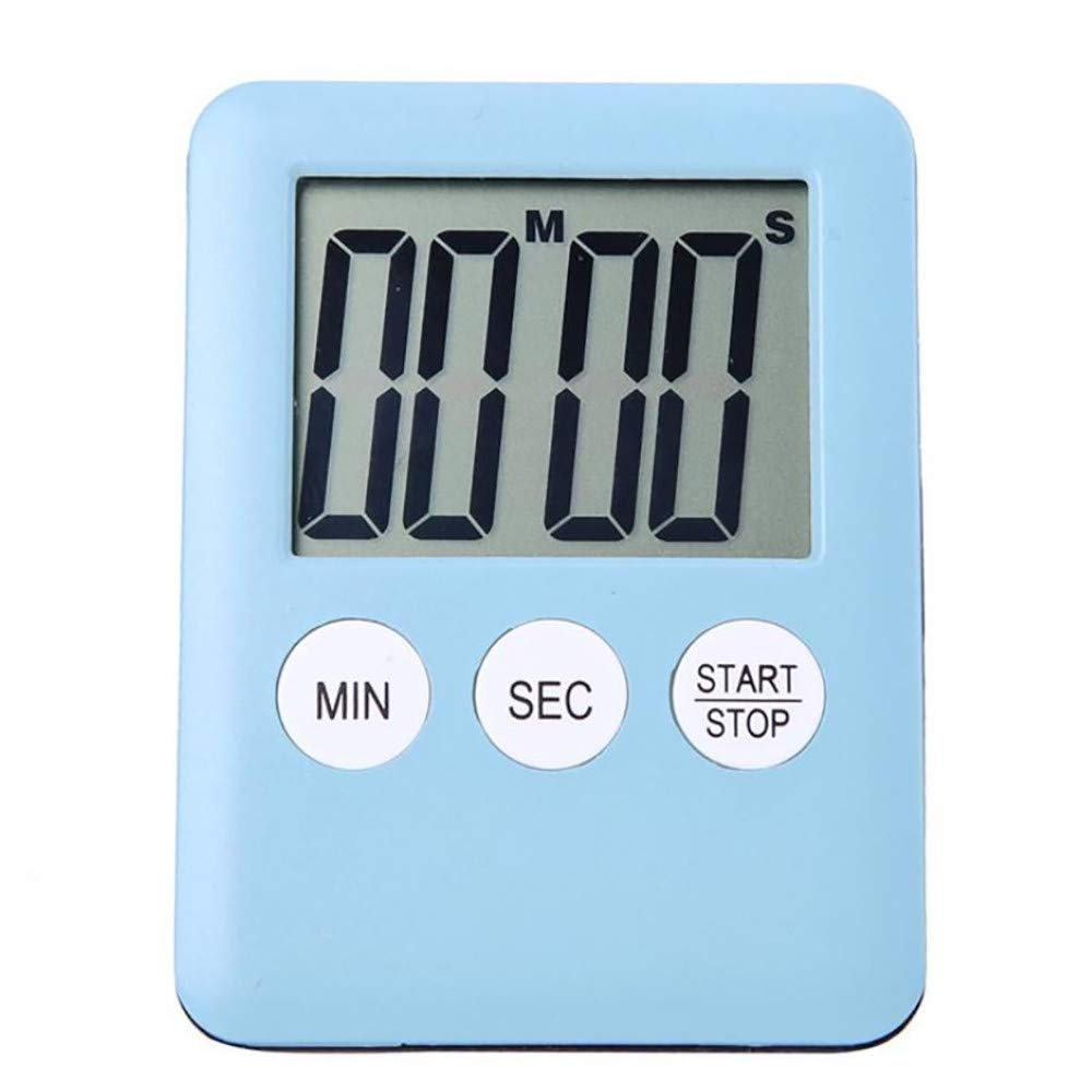 MatureGirl Digital Kitchen Timer, Cooking Timer, Large Display, Strong Magnet Back, Loud Alarm, Memory Function, Count-Up & Count Down for Cooking Baking Sports Games Office (Sky Blue) by MatureGirl (Image #1)