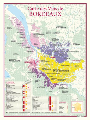 vin de bordeaux carte Carte des vins de Bordeaux: Benoit France: 9782843542268: Amazon