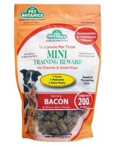 Cardinal Laboratories Botanic Training Rewards Mini Treats Small Dogs, Bacon, 4-Ounce, My Pet Supplies