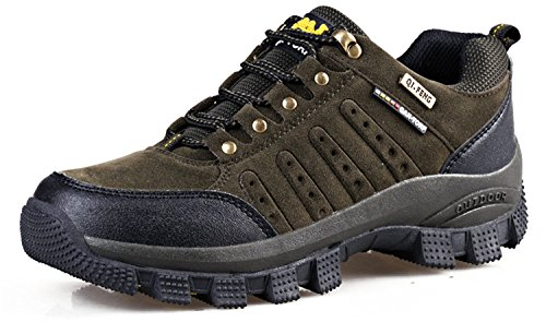 RAINSTAR Unisex Trekking Hiking Sport Shoe Men Women Outdoor Walking Sneaker Dark Green 5Klg1WCB