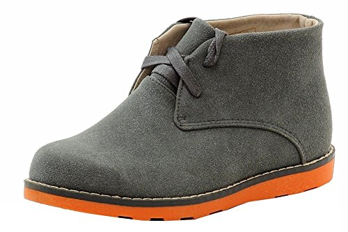 Easy Strider Boys The Chukka Booties Fashion Boot School Uniform Shoes Grey