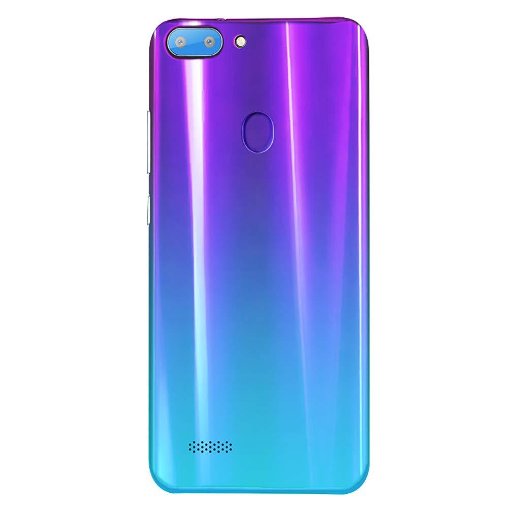 Mbtaua-Phone 5.5'' Ultrathin Smartphone Android 6.0 Octa-Core & 512MB+4G GSM WiFi Dual Unlocked Smartphone Purple