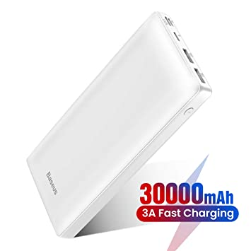 Baseus Power Bank - Cargador portátil (30000 mAh, USB C, PD ...