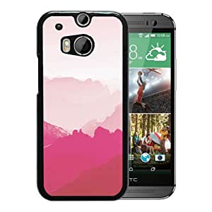 Pink Mountains Durable High Quality HTC ONE M8 Phone Case