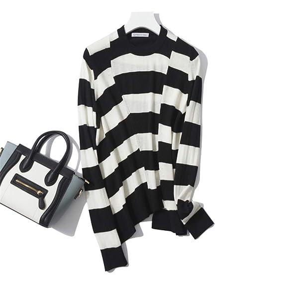 09c914bf95db Amazon.com  YISHI Spring Women s Sweater Classic Black   White ...