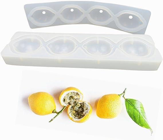 hornear para postres molde de silicona hecho a mano Moldes de silicona con forma de lim/ón para decoraci/ón de tartas utensilios tartas