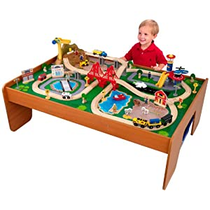 KidKraft Ride Around Train Set and Table - 51IWLBgoQLL - KidKraft Ride Around Train Set and Table